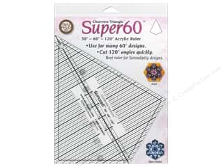 Quilting Rulers: Clearview Triangle Rulers Super 60 Ruler