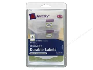 Labels: Avery Removable Durable Labels 10 pc. Sage Green