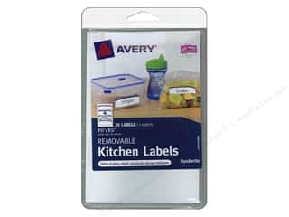 Labels: Avery Removable Kitchen Labels 20 pc. Blue
