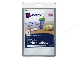 Labels: Avery Removable Kitchen Labels 20 pc. Green