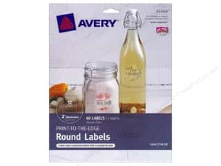 Avery Dennison Clear: Avery Print-To-The Edge Round Labels 2 in. Clear 60 pc.