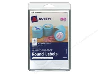 Avery Round Labels 1 5/8 in. Matte Silver Foil 30 pc.