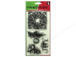 Inkadinkado InkadinkaClings Clear Stamp Evergreen Holiday