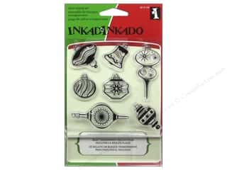 Inkadinkado InkadinkaClings Clear Stamp Inchies Ornament Shapes
