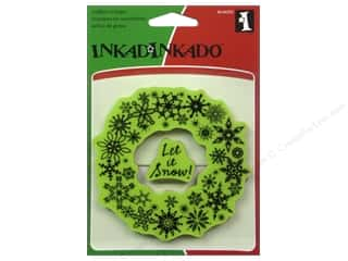 2013 Crafties - Best Adhesive: Inkadinkado InkadinkaClings Stamp Snowflake Wreath