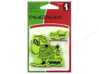 Inkadinkado Cling Stamp Mini: Inkadinkado InkadinkaClings Stamp Mini Santa