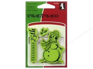 Inkadinkado Cling Stamp Mini: Inkadinkado InkadinkaClings Stamp Mini Snowman