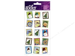EK Sticko Sticker Christmas Postage Stamps