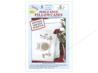 Pillow Shams Animals: Jack Dempsey Pillowcase Perle Edge White Chicken Scratch Owl