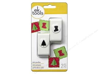 Christmas: EK Punch Mini 2pc Tree And Stocking