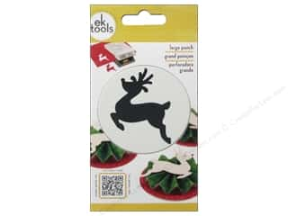 Unique EK Paper Shapers Punches: EK Paper Shapers Punch Large Leaping Reindeer
