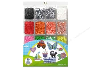 Trays Craft & Hobbies: Perler Fused Bead Tray Stripes 'N Pearls 4000 pc.