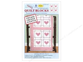 "Jack Dempsey Quilt Block 18"" Chicken Scratch Heart"