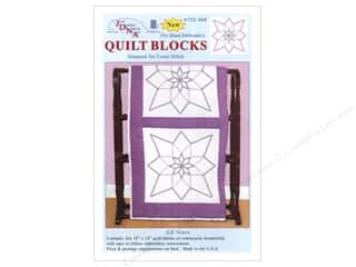 "Jack Dempsey Quilt Blocks 18"" 6pc XX Stars"