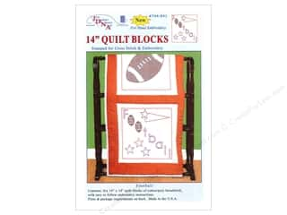 "Holiday Sale: Jack Dempsey Quilt Blocks 14"" 6pc Football"
