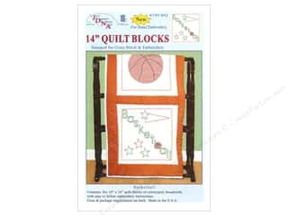 "Holiday Sale: Jack Dempsey Quilt Blocks 14"" 6pc Basketball"