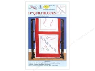 "Jack Dempsey Quilt Blocks 14"" 6pc Baseball"