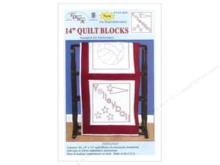 "Holiday Sale: Jack Dempsey Quilt Blocks 14"" 6pc Volleyball"
