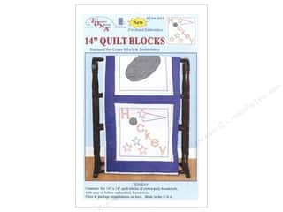 "Jack Dempsey Yarn Kits: Jack Dempsey Quilt Blocks 14"" 6pc Hockey"