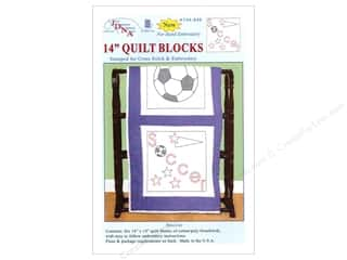 "Holiday Sale: Jack Dempsey Quilt Blocks 14"" 6pc Soccer"