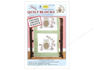 "Jack Dempsey Quilt Blocks 18"" 6pc Chicken Scr Owl"