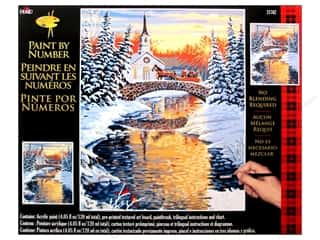 "Crafting Kits Winter: Plaid Paint By Number 16""x 20"" Over the River"