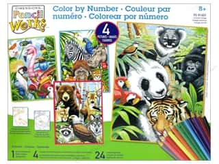 "Animals Craft & Hobbies: Paintworks Pencil By Number 9""x 12"" Animal Collage"