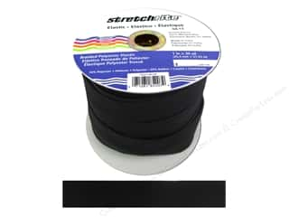 Elastic Stretchrite Braided Elastic Flat: Stretchrite Braided Elastic Flat 1 in. x 30 yd Black (30 yards)