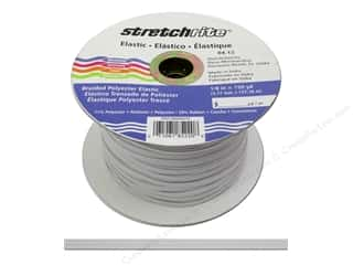 Elastic Stretchrite Braided Elastic Flat: Stretchrite Braided Elastic Flat 1/8 in. x 150 yd White (150 yards)