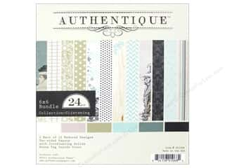 winter clearance craft: Authentique 6 x 6 in. Paper Bundle Glistening Collection 24 pc.
