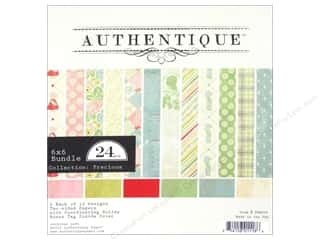 Baby Clearance: Authentique 6 x 6 in. Paper Bundle Precious Collection 24 pc.