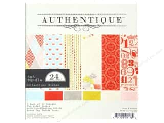 Authentique 6 x 6 in. Paper Bundle Wishes 24 pc.