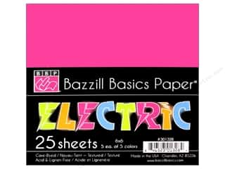 Cardstock  6x6: Bazzill 6 x 6 in. Multi Pack Electric 25 pc.