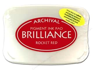 Sculpey $2 - $4: Tsukineko Brilliance Large Stamp Pad Rocket Red