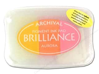 Stamping Ink Pads $3 - $5: Tsukineko Brilliance Large Craft Stamp Pad Aurora 3 Color