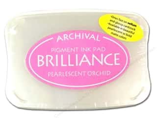 Sculpey $2 - $4: Tsukineko Brilliance Large Stamp Pad Pearlescent Orchid