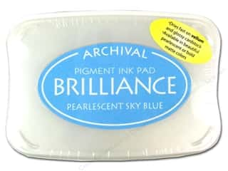Sculpey $2 - $4: Tsukineko Brilliance Large Stamp Pad Pearlescent Sky Blue