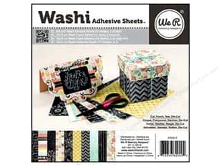 We R Memory Washi Adhesive Sheet Pad 6x6 Chalkbord