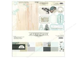 Crafting Kits Winter: Authentique Collection Kit 12 x 12 in. Glistening