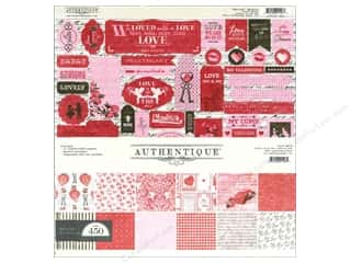 Crafting Kits Valentine's Day: Authentique Collection Kit 12 x 12 in. Smitten