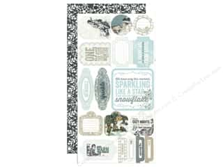 vintage $6 - $17: Authentique 6 x 12 in. Die Cut Paper Accents Glistening Components (3 sets)