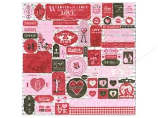 Authentique Stickers 12 x 12 in. Smitten Details