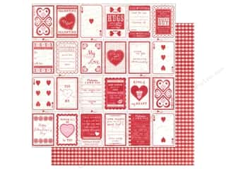 Hearts inches: Authentique 12 x 12 in. Paper Smitten Collection Promise (25 pieces)