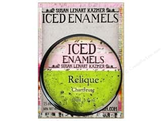 ICE Resin Embossing Powder: Ice Resin Iced Enamels Relique Chartreuse
