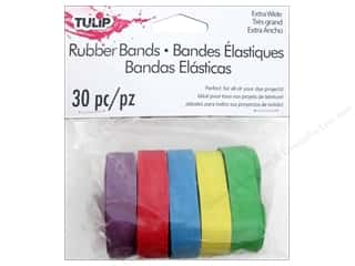 Rubber / Elastic Bands: Tulip Tie Dye Accessories Rubber Bands Multi Wide 30pc