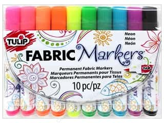 Tulip Fabric Marker Set Brush Tip Neon 10pc