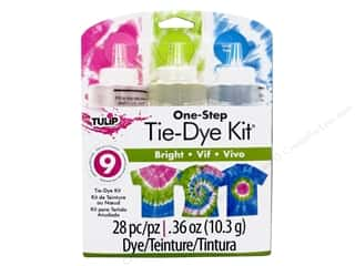 Quilting Creations Ruching Guides: Tulip Dye Kits One Step Tie 3 Color Bright