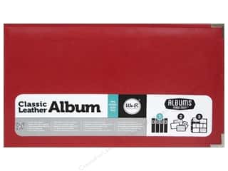 We R Memory Keepers Album 12 x 12 in. Leather Real Red