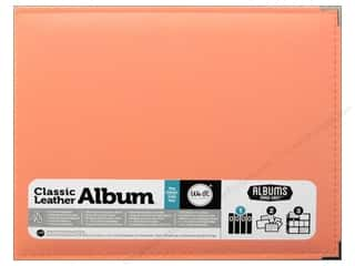 We R Memory Album 12x12 AME Leather Ring Coral