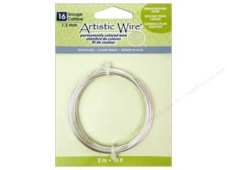 silver jewelry wire: Artistic Wire 16 ga. Copper Wire 10 ft. Non Tarnish Silver Plated